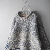 90s woolrich roll neck nordic knit sweater/unisex