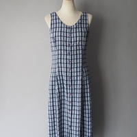 sleeveless checkered dress