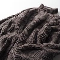 90s L.L. Bean 100%cotton alan knit sweater/ladies'