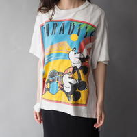 80s Mickey& Minnie remake T-shirt made in USA