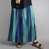 brilliant color long summer skirt