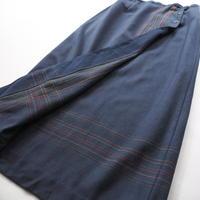 deep navy wrap long skirt