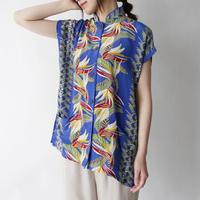 100% silk remake mao color sleeveless aloha shirt