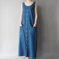 denim no sleeve dress