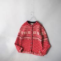 L.L. Bean Tyrolean nordic knit cardigan/ladies'