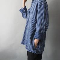 vintage  zip-up fisherman's shirt/unisex