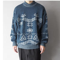 Euro vintage nordic knit sweater/unisex