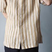 dead stock 100% linen stripe shirt/unisex