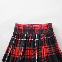 cotton plaid long skirt