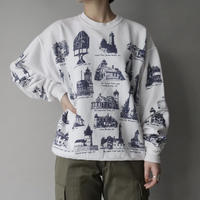made in USA lighthouse print sweat/unisex