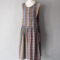 nice check 3 pockets jumper skirt