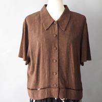 vintage karin stevens back slit blouse