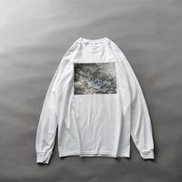 HIBIWA×Jedai Matsumoto photo print long sleeve T-shirt/white
