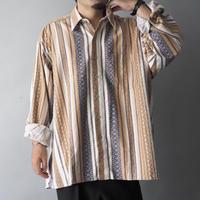 vintage Euro loose pajamas shirt/unisex