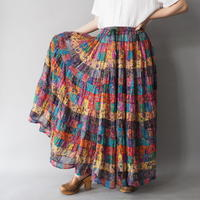 made in India 100% cotton maxi skirt