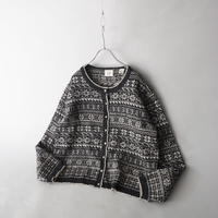 old GAP short length cotton+wool+rayon knit cardigan/for ladies'