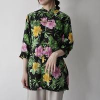 Lauren 100%linen china design botanical shirt/for ladies'