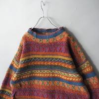unisex shetland woolcolorful design knit sweater