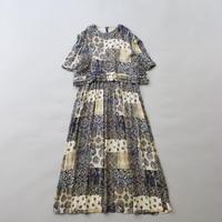 karin stevens mix pattern dress