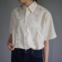 flower  embroidery Cuban shirt