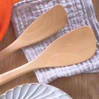 ツゲ材 調理用木べら Mサイズ・左手用(左利き用)