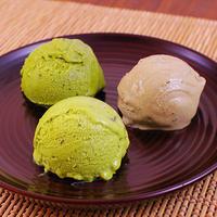 【根本園】濃茶アイスシリーズ(チョコチップ、茶葉、ほうじ茶)