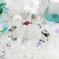 美sha♥オリジナルリング指輪高純度テラヘルツ鉱石とパヴェボールビーズできらきら˖✧ 指輪