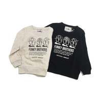 「FUNKY BROTHERS」スウェット/ivory/black/100/110/120/130/140