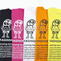 「FASHIONISTA part2」SWEAT C/N WHITE/YELLOW/PINK/ORANGE/BLACK/M/L/XL