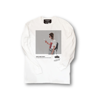 ロンT「SMOKE GIRL」WHITE/M/L/XL