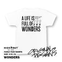 「WONDERS」Tシャツ/UNISEX/S/M/L/XL