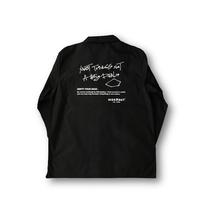 オープンカラービッグアウターシャツ BLACK / L / XL