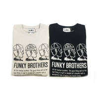 「FUNKY BROTHERS」スウェット/ivory/black/S/M/L/XL