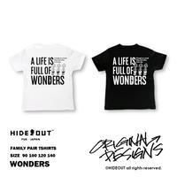 「WONDERS」Tシャツ/KIDS/WHITE/BLACK/90/100/120/140