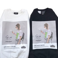 S.i.m×HIDEOUT 「SMOKE GIRL」 SWEAT CN  WHITE / BLACK / M / L / XL
