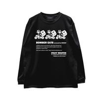 HIGH GRADE LONG SLEEVE T-SHIRTS「BOMBER EATS 3MAN」BLACK/M/L/XL