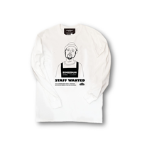 ロンT「cafe dining BOMBERMAN -1man」WHITE/M/L/XL