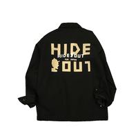 コーチジャケット「HIDEOUT LOGO」BLACK / M / L / XL