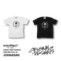 「JOHNASAN」Tシャツ/UNISEX/WM/S/M/L/XL