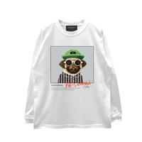 LONG SLEEVE T-SHIRTS「mr.dogman」WHITE/M/L/XL