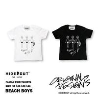 「BEACH BOYS」Tシャツ/KIDS/WHITE/BLACK/90/100/120/140
