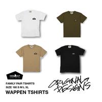 オリジナルワッペン1ポイントTシャツ  4color / 160 / S / M / L / XL