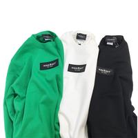 ボックスロゴワッペンスウェット white/green/black/M/L/XL