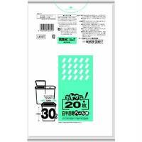 U39T オトクナ 30L 白半透明 20枚(ゴミ袋)
