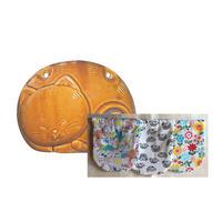 【カバー新柄さらに入荷!】陶器製ねこ湯たんぽ&カバー(アソート)セット