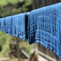 日本の藍染め【おだい布巾(綿)】