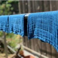 日本の藍染め【おだい布巾(麻 入り)】