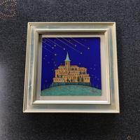 「青き空」板絵テンペラ画
