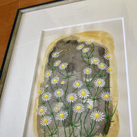 「カモミール」画用紙にテンペラ画