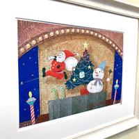 「サンタがやって来る」オリジナル・ジークレーアート